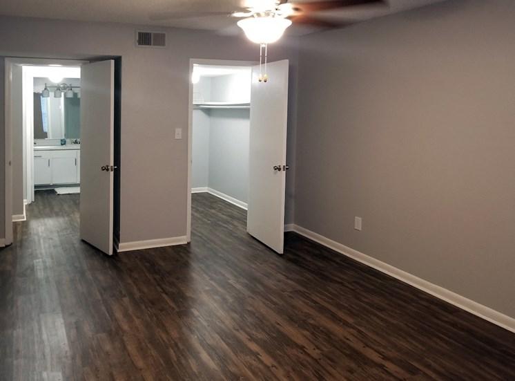 hardwood style flooring in  bedroom at Aspen Run II