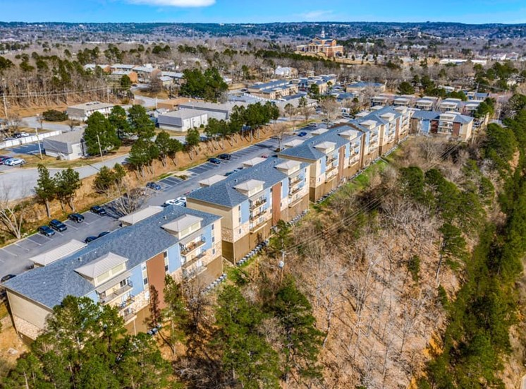 Residences at The Overlook situated atop Mesa Drive overlooking Little Rock