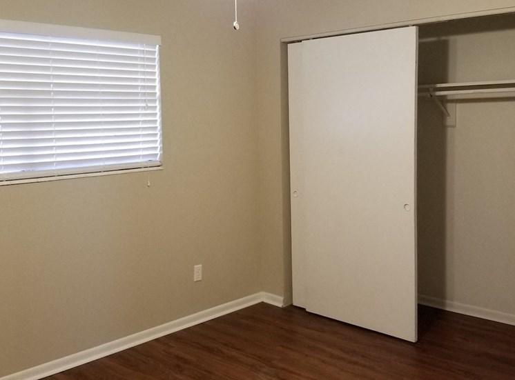 large closet in bedroom at Aspen Run Apartments
