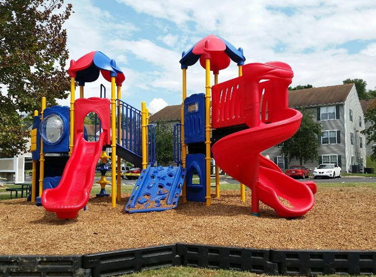Playground on Mulch at Columbia Hills Apartments, Columbia, Tennessee