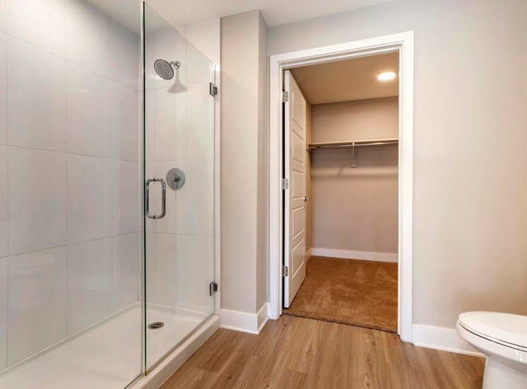 Bathroom with Stand Up Shower and Walk-in Closet