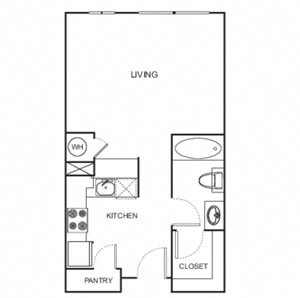 Uptown Floor Plan Loft Style