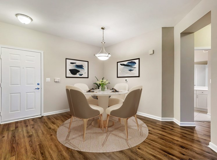 Virtual dining room table with chairs