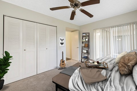 Welleby Lake Club Apartments | Bedroom with Private Patio Access