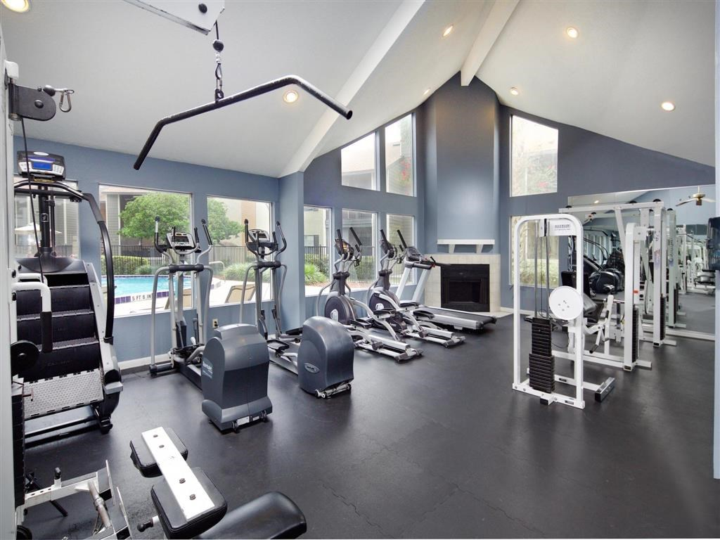 Fitness Center with Strength and Cardio Equipment