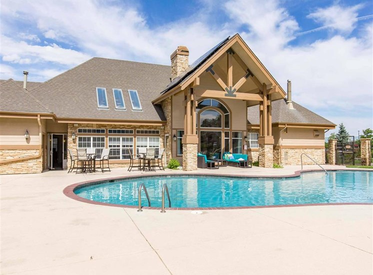 The Village at Legacy Ridge Apartments | Swimming Pool and Clubhouse