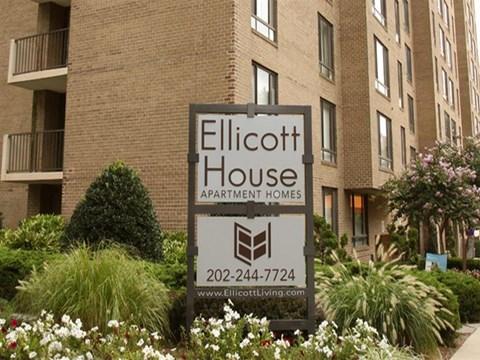 Ellicott House | Apartments for Rent Washington, DC | Entrance Sign