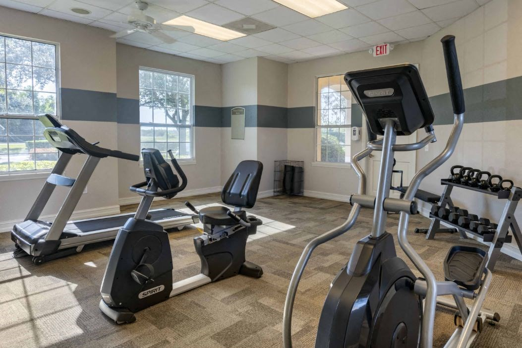 Fitness Center with Exercise Equipment  and Ceiling Fan