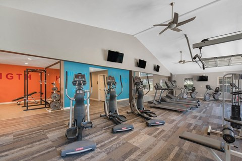 The Marks Apartment Homes | Fitness Center with Free Weights