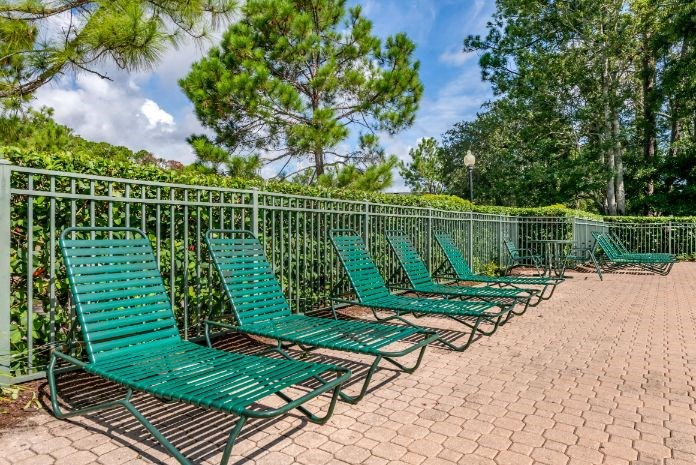 Whispering Woods | Pool Sundeck Lounge Seating