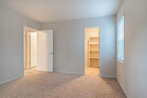 Bedroom with Spacious Walk-In Closet