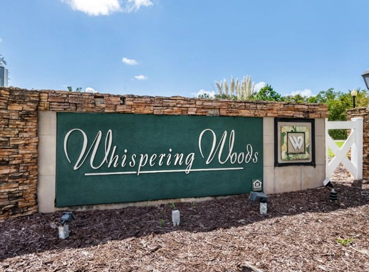 Whispering Woods | Community Entrance Sign