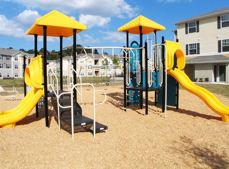 Playground in courtyard