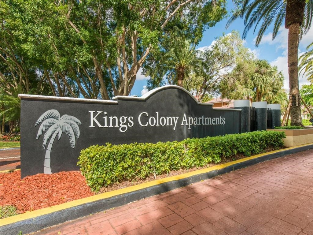 Kings Colony Apartments   Entrance Sign
