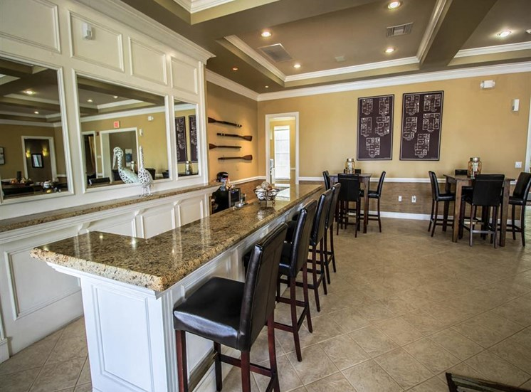 The Winston Apartments | Clubhouse with Kitchen