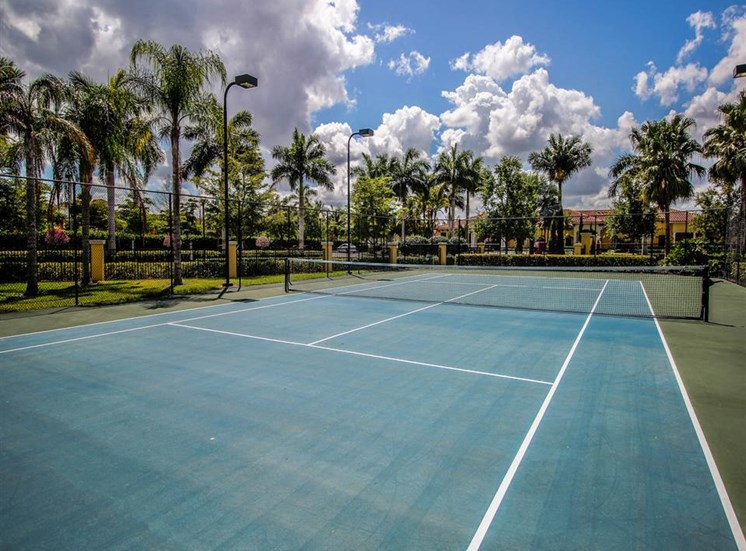 Tennis Court at Park Aire Apartments