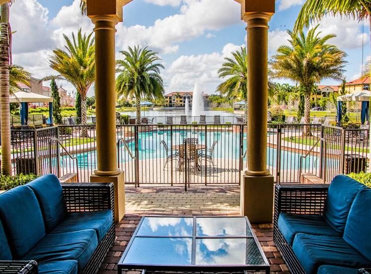 Seating around the Resort Style Swimming Pool