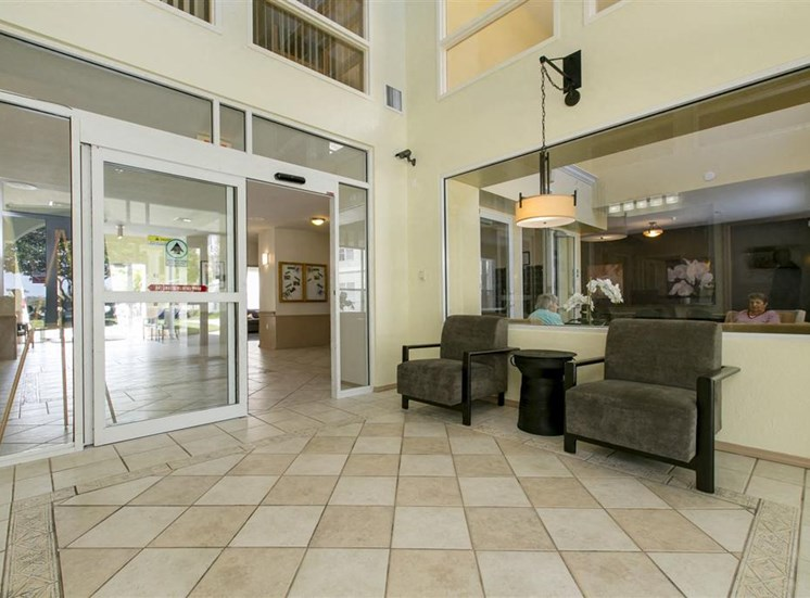 Interior entrance to leasing office