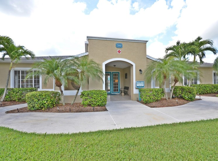 Leasing Office Exterior at River Park Place Apartments, Vero Beach, FL, 32962