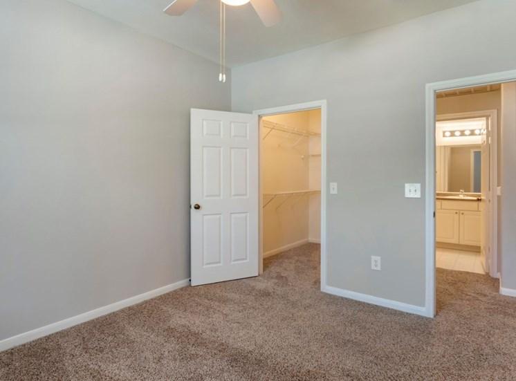 Vacant bedroom with en-suite bathroom