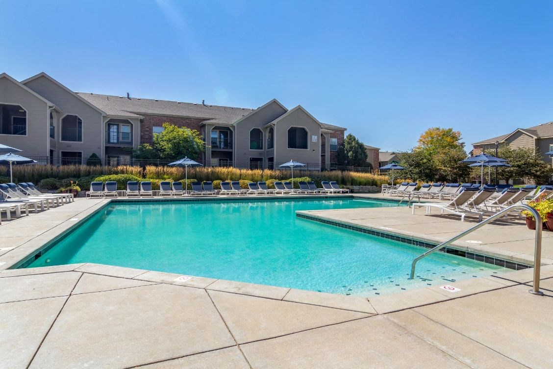 Legacy Heights Apartments | Pool with Tanning Deck