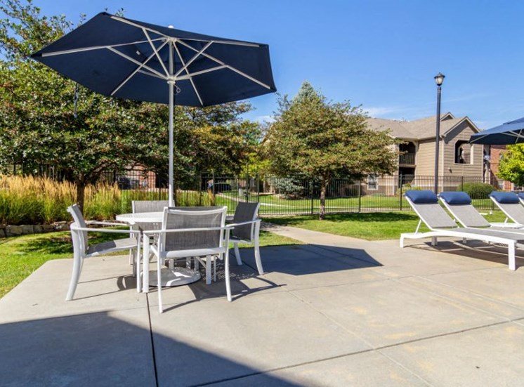 Legacy Heights Apartments | Pool Side Picnic Area