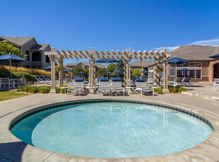 Legacy Heights Apartments | Heated Spa with Pergola