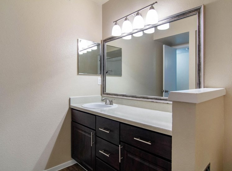 Bathroom with Vanity Lights.