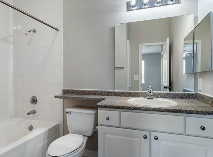 Bathroom with vanity lights