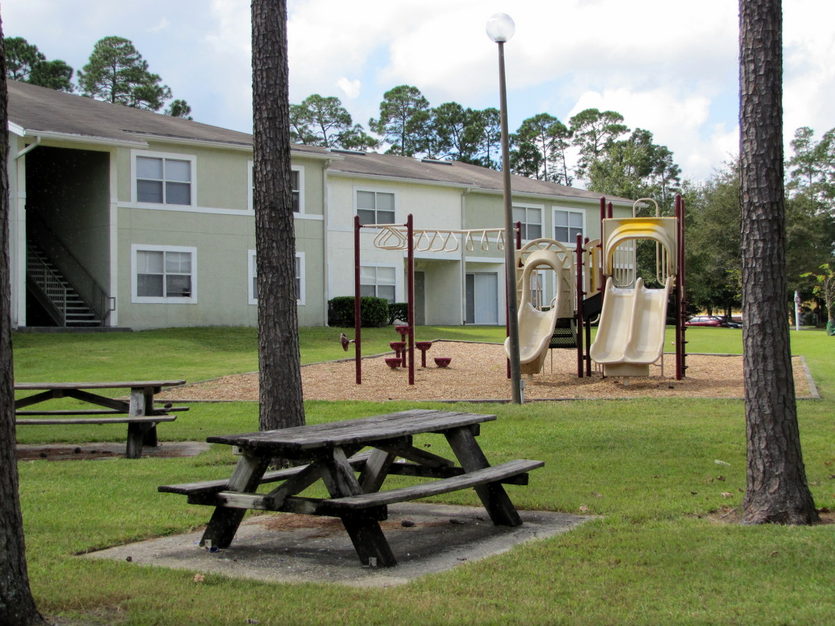 Outdoor playground and picnic area