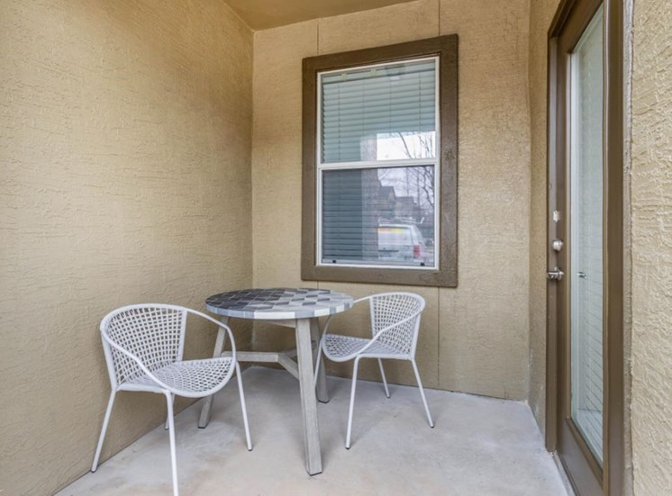 Small Patio with Patio Dinette Table and Chairs