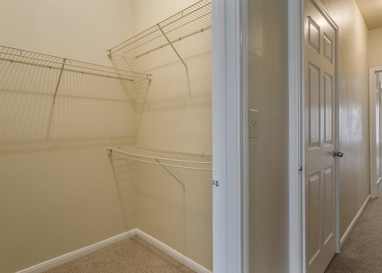 Closet with built in storage