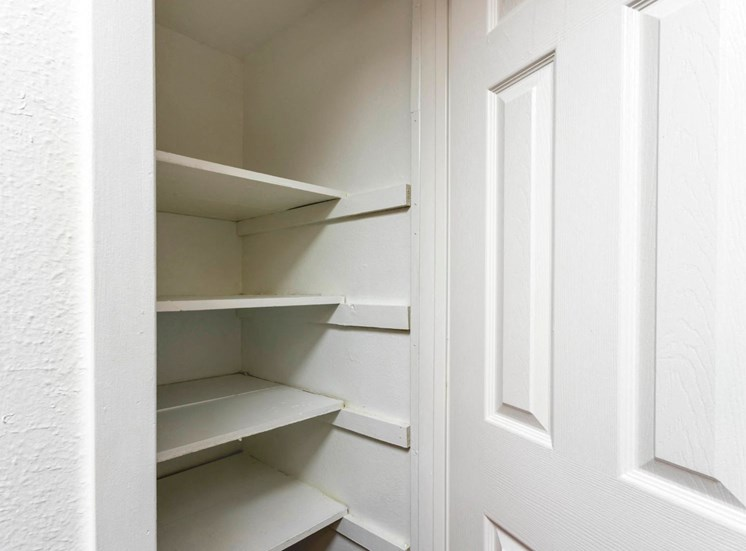 Kitchen Pantry with built-in shelves