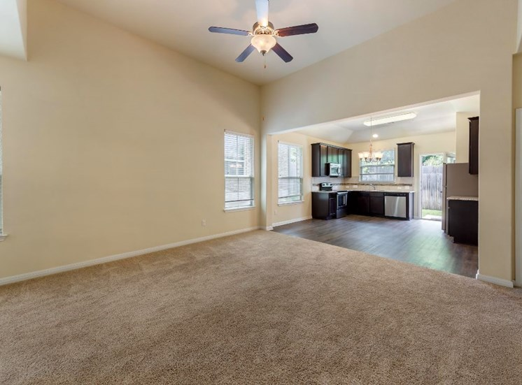 Living Room with Carpet Flooring