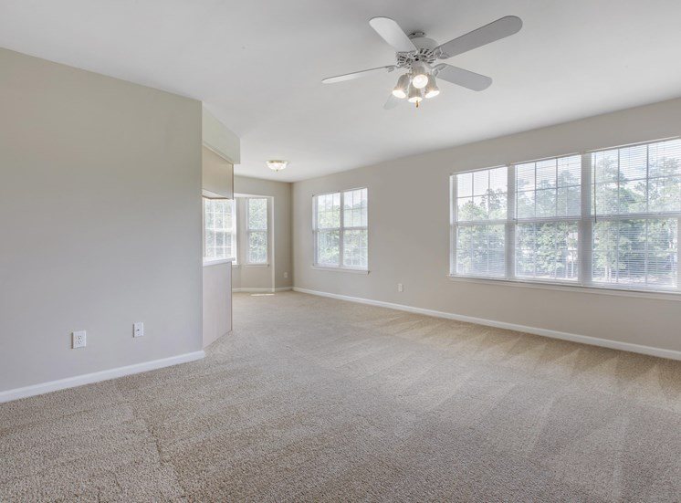 Spacious Floor Plan with Carpeted Living and Dining Rooms