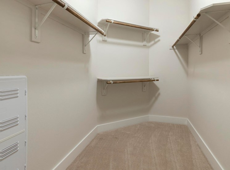 Spacious Walk-In Closet with Built-In Shelves