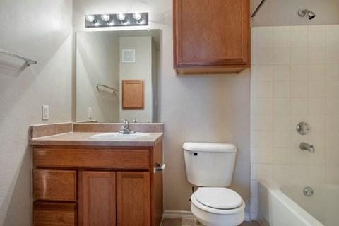 Bathroom with Garden Style Bath Tub