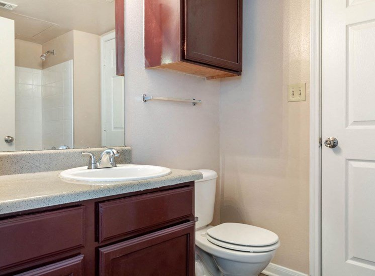 Bathroom with cabinet space