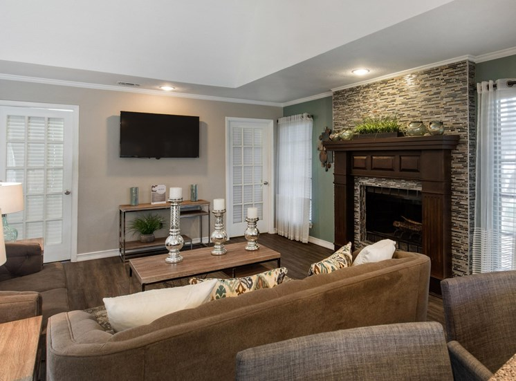 Landmark at Spring Creek Leasing Center with Lounge Area