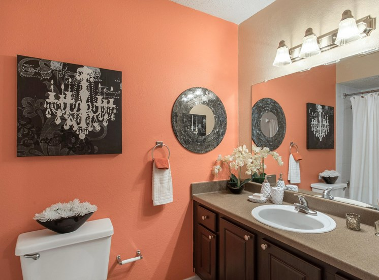 Landmark at Spring Creek Bathroom with Accent Wall