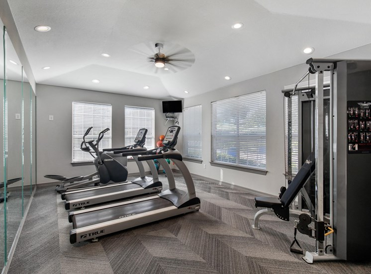 Fitness Center with treadmills and workout station