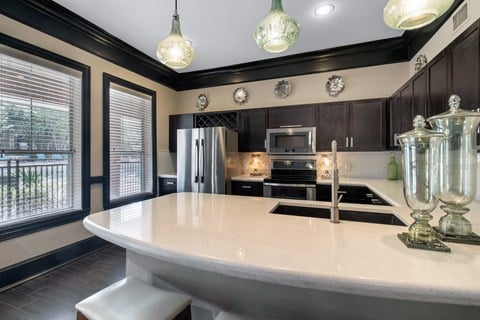 The Lincoln at Towne Square| Clubhouse with Kitchen