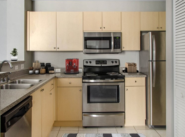The Winston Apartments | Fully Equipped Kitchen with Stainless Steel Appliances