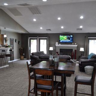 Clubroom With Smart Tv And Fireplace at Parkview Apartments, North Carolina