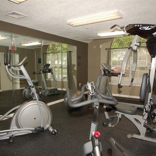 Fitness Center with Exercise Equipment at Parkview Apartments, North Carolina