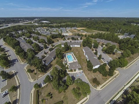 Aerial View of Caveness Farms Apartment Homes Wake Forest, NC