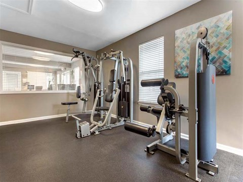 Fitness Center | Caveness Farms Apartment Homes Wake Forest, NC