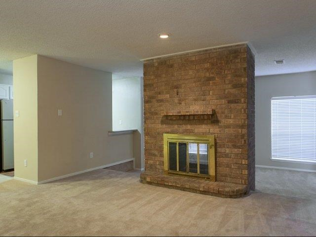 Preston Greens Apartments Dallas, TX Double Sided Fireplace