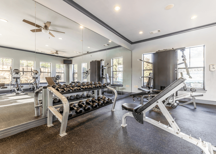 Fitness Center with free weights