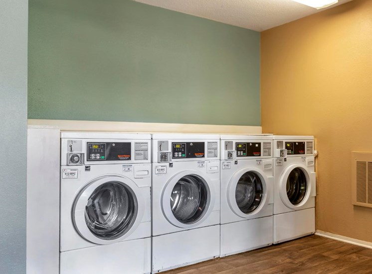 Laundry Facility with White Machines